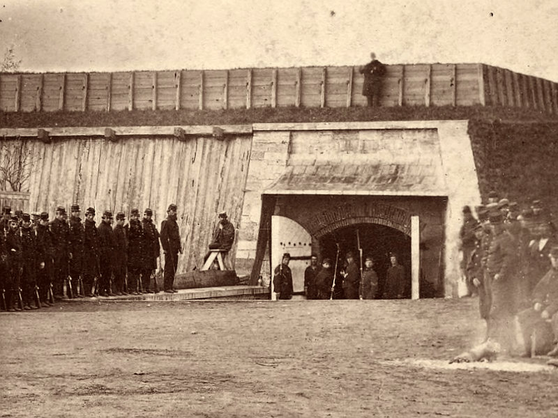 Sally port and volunteers 1861